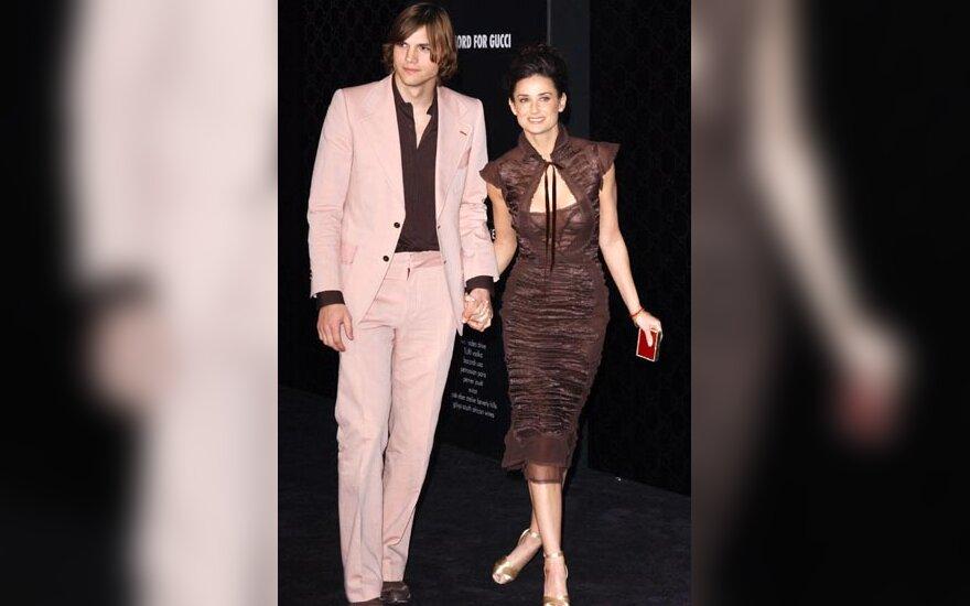Ashton Kutcher ir Demi Moore