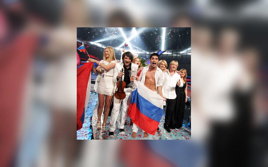 """Dima Bilanas švenčia pergalę """"Eurovizijoje"""""""