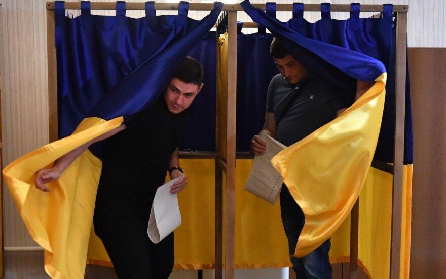 Lietuvoje balsavę ukrainiečiai prezidento rinkimuose palaikė Porošenką