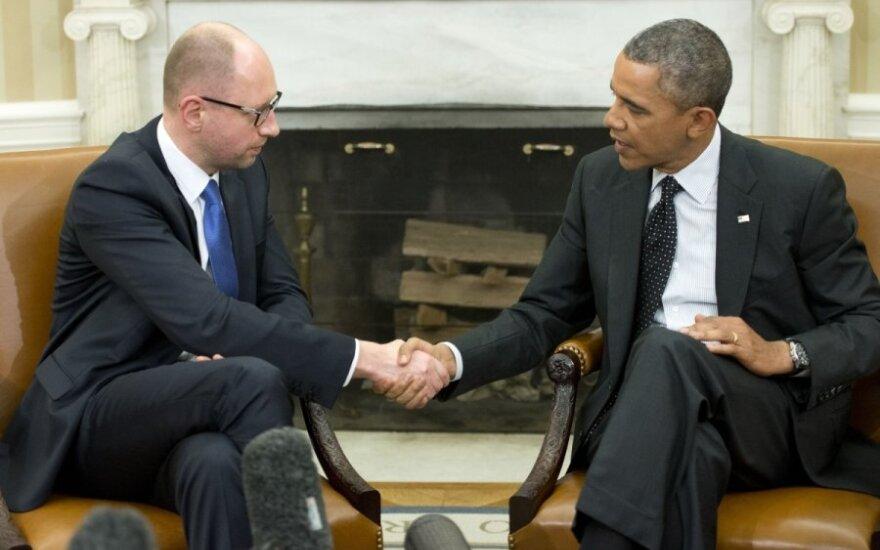 B. Obama ir A. Jaceniukas