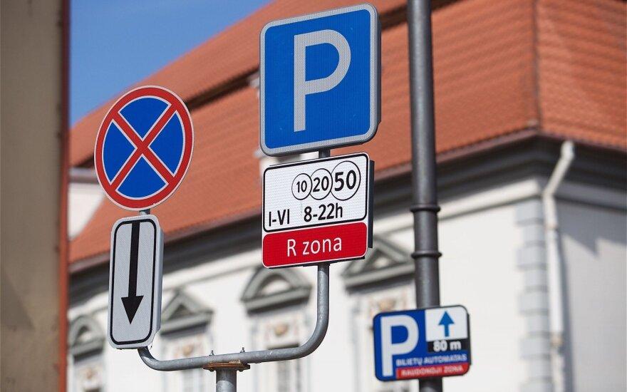 Vilniaus senamiestyje automobilių stovėjimas brangs daugiau nei trečdaliu