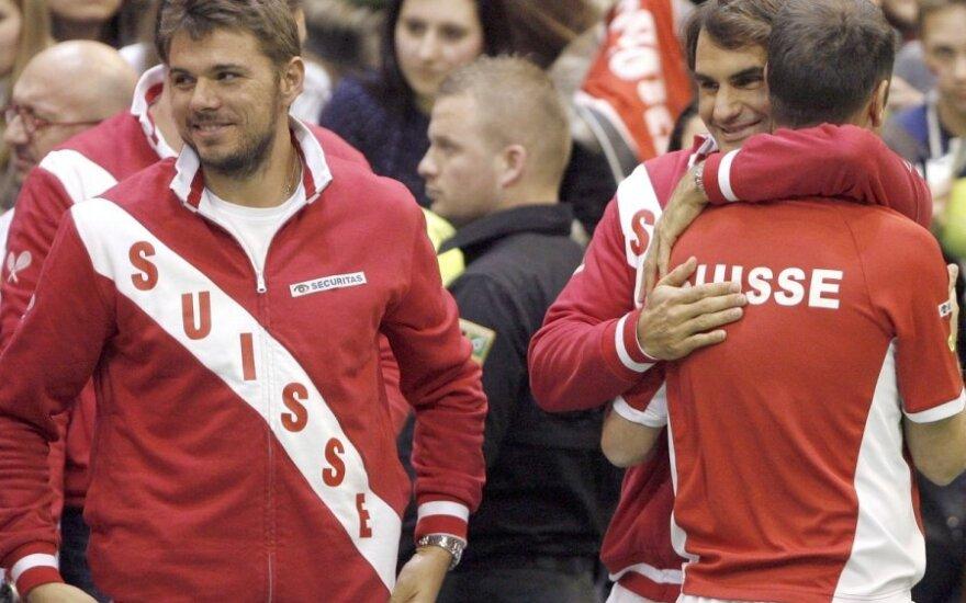 Stanislas Wawrinka ir Rogeris Federeris