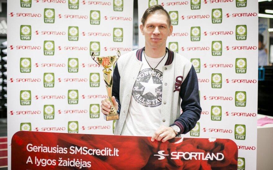 Geriausias A lygos sezono žaidėjas – be medalio likęs T. Radzinevičius