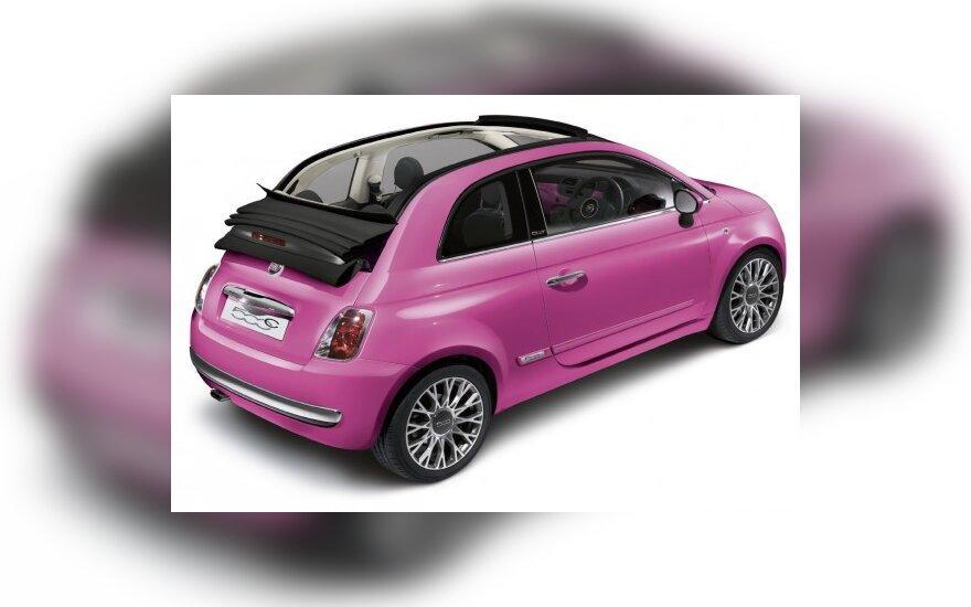 Fiat 500C Pink