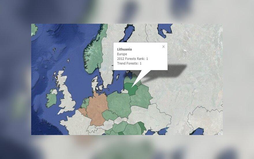 Lietuva su dar keliomis valstybėmis pripažinta, kaip geriausiai miškai besirūpinanti valstybė