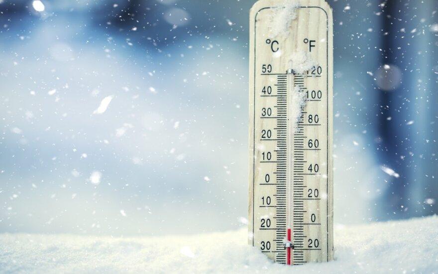 Fotografuok! Termometras rodo arktinį šaltį!