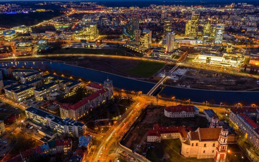 Vilniaus miestas vakare
