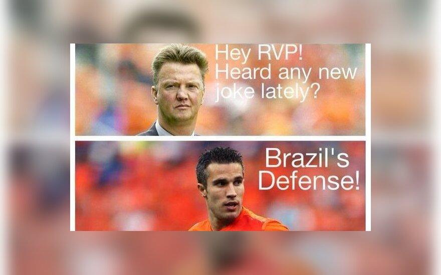 Memai apie Brazilijos ir Olandijos rungtynes