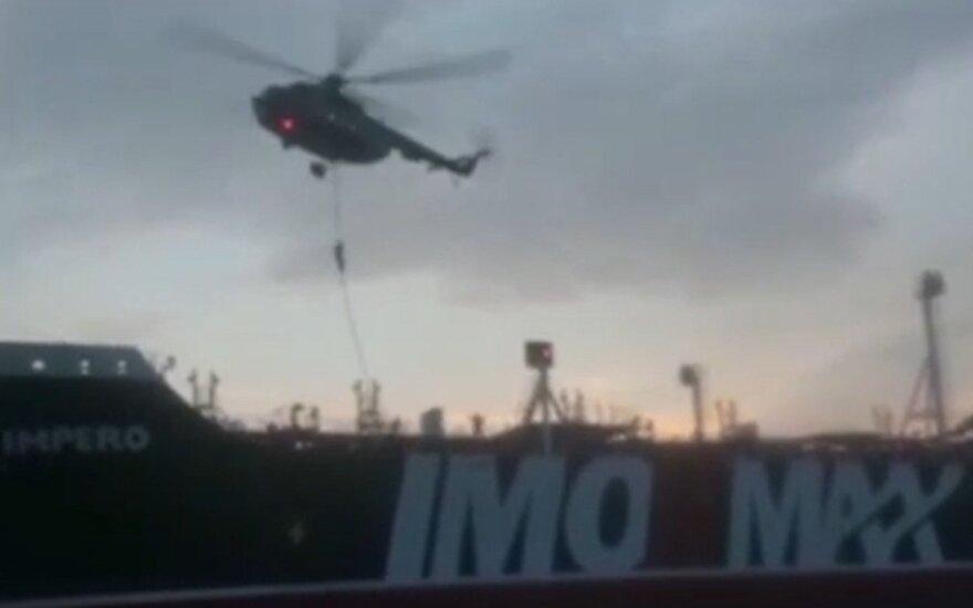 Paskelbė filmuotą medžiagą, kurioje užfiksuotas Didžiosios Britanijos tanklaivio užėmimas