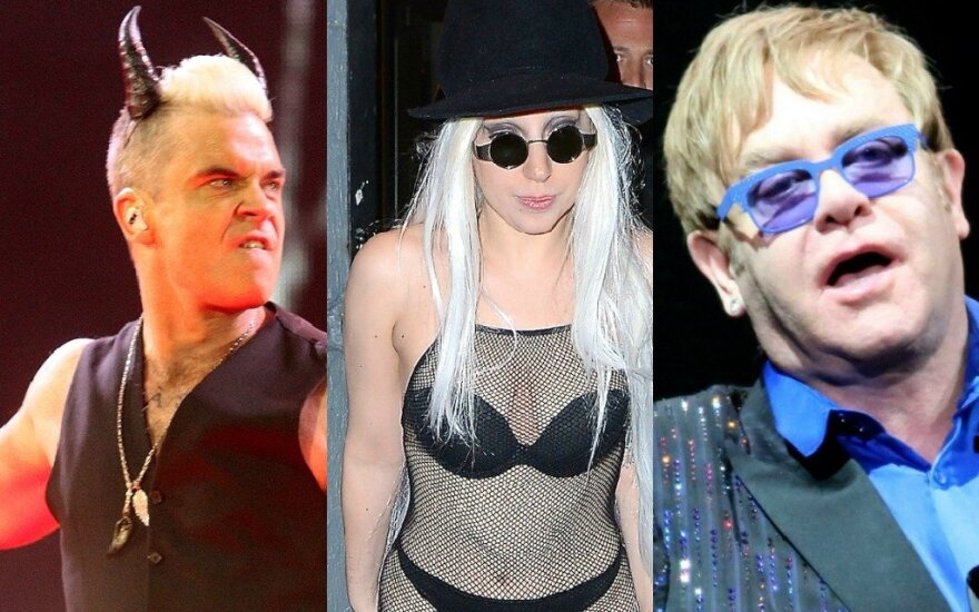 R. Williamsas, Lady Gaga, E. Johnas