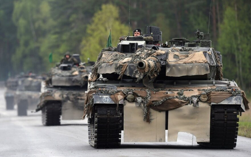 Lithuanian military commemorates its centenary: military hardware for parade already in Vilnius