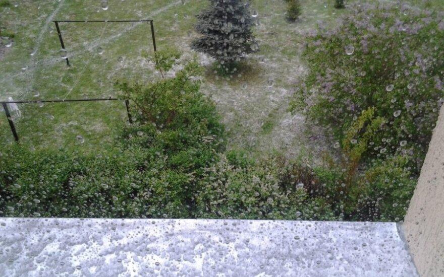 Vilniaus rajoną užklupo kruša