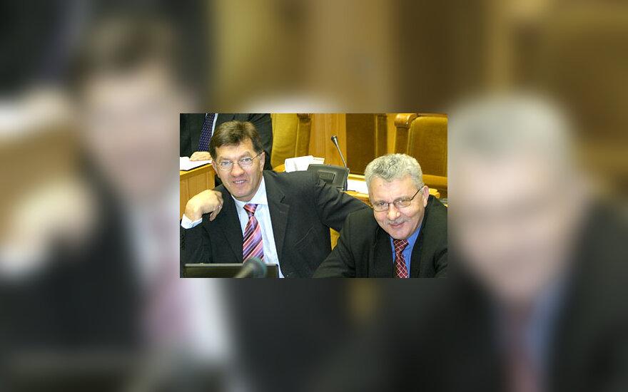 Algirdas Butkevičius ir Algimantas Salamakinas