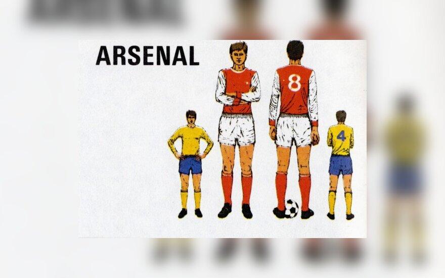 """Arsenal"" klubo marškinėliai primena XX a. 8-o deš. stilių"
