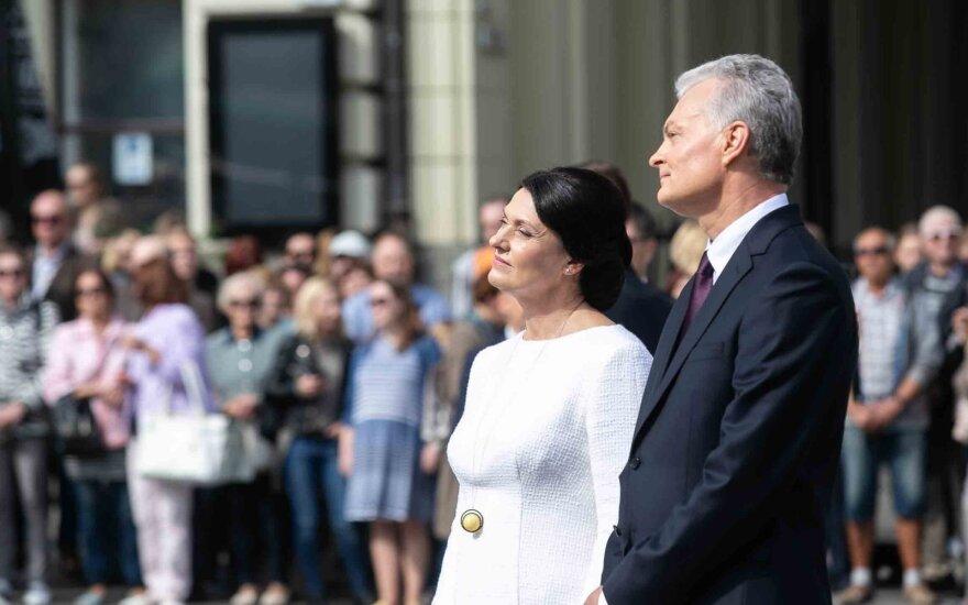 Prezidento Gintano Nausėdos apsilankymas prie J.Basanavičiaus paminklo
