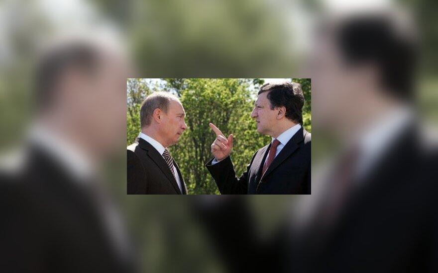 Vladimiras Putinas ir Jose Manuel Barroso