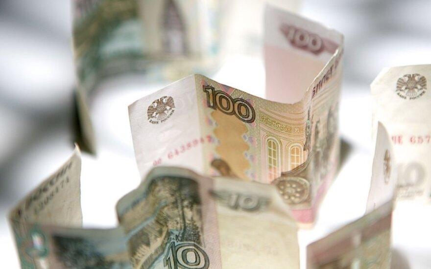 """Rusijoje situaciją su pinigais vadina """"katastrofiška"""""""