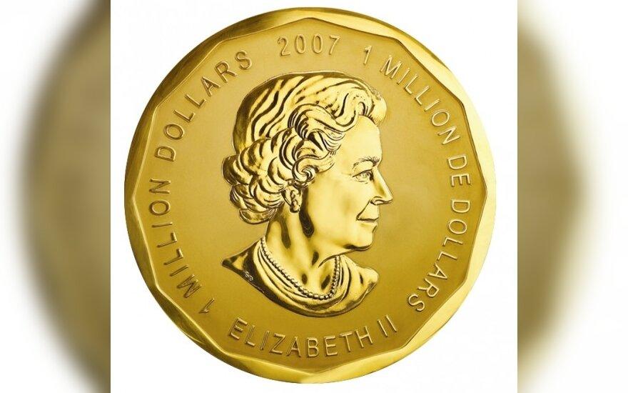 Bus eksponuojama 100 kg svorio auksinė moneta
