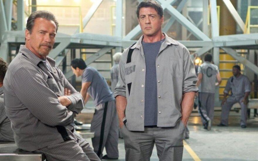 """Sylvesteris Stallone ir Arnoldas Schwarzeneggeris filme """"Pabėgimo planas"""""""