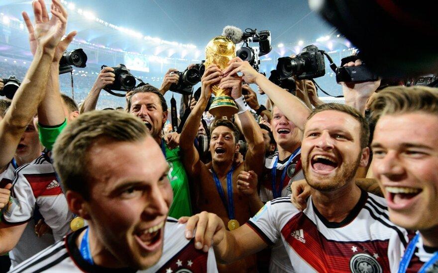 Vokietijos futbolo rinktinė triumfuoja 2014-ųjų pasaulio čempionate