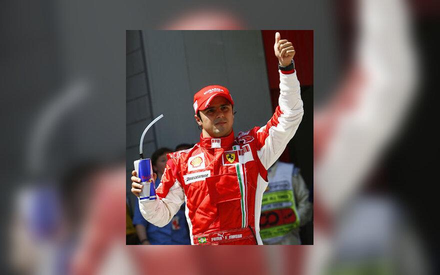 "Felipe Massa (""Ferrari"") laimėjo Ispanijos GP kvalifikaciją"