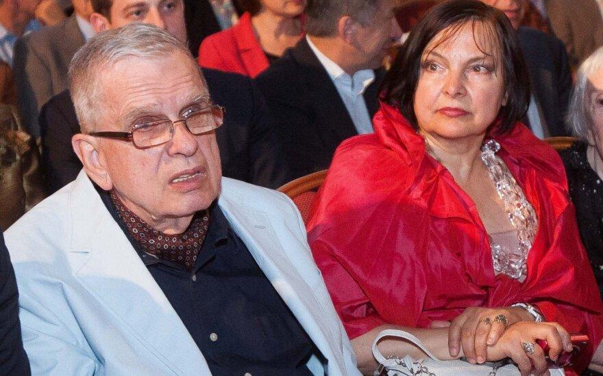 Tomas Venclova su žmona