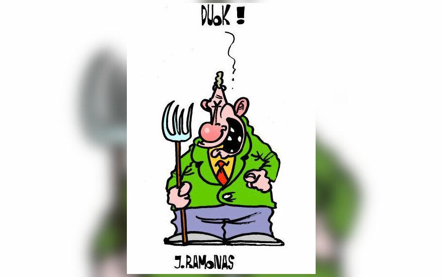 Jonas Ramonas - karikatūra