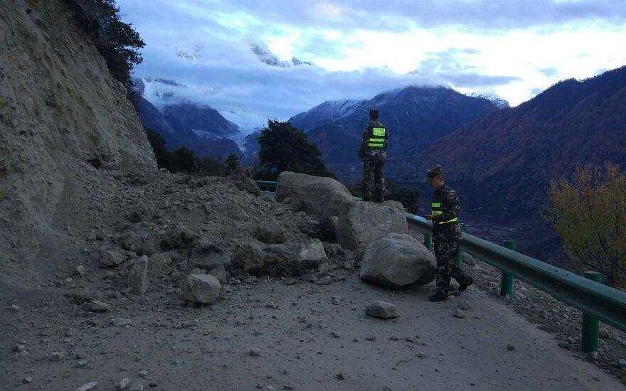 Kinijos šiaurės vakaruose įvyko stiprus žemės drebėjimas