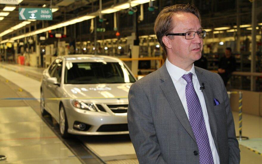 """""""Saab"""" valdančios kompanijos NEVS prezidentas M. Bergmanas"""