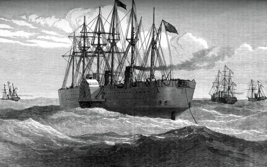 Transatlantinį telegrafo kabeli tiesiantis laivas