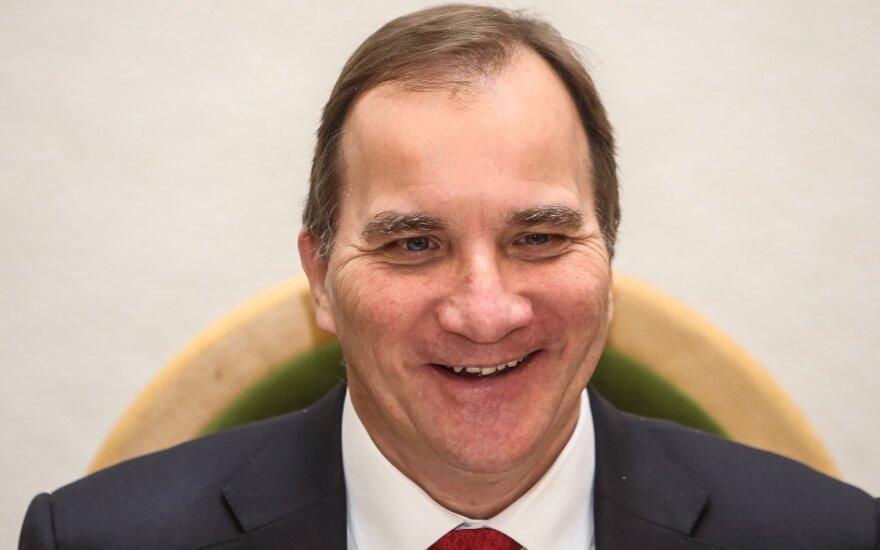 Švedijos socialdemokratų premjeras Lofvenas bus paskirtas antrai kadencijai