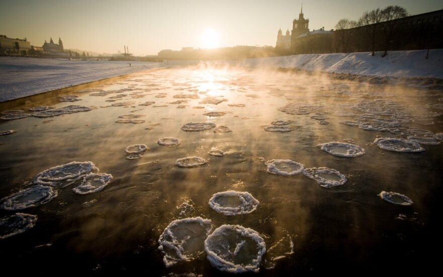 Ice on the Neris in Vilnius