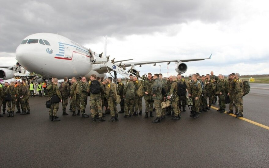 German troops landing in Lithuania as part of a NATO exercise