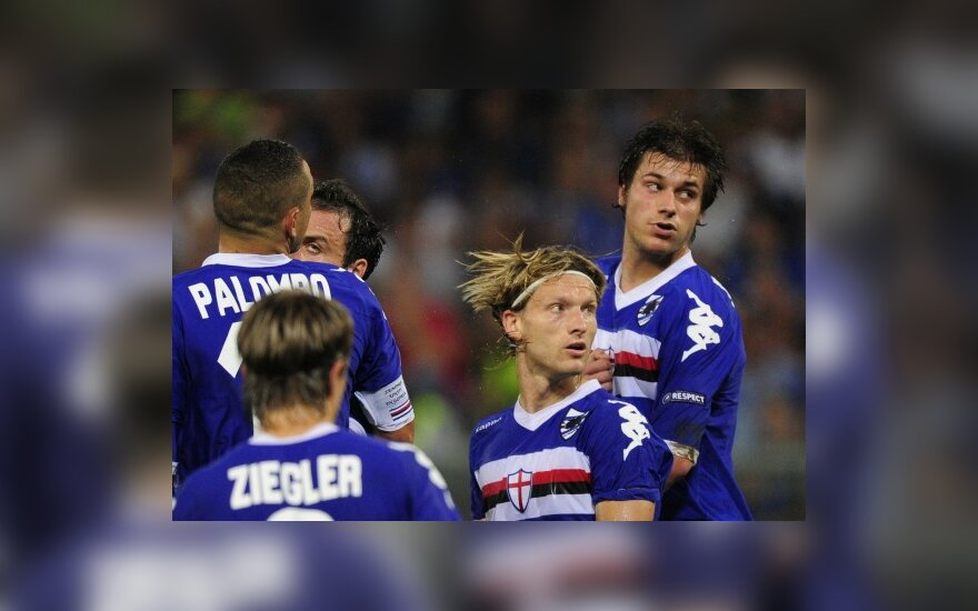 """Marius Stankevičius ir """"Sampdoria"""" futbolininkai"""