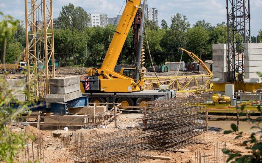 Statybos darbų trečią ketvirtį atlikta už beveik 1 mlrd. eurų