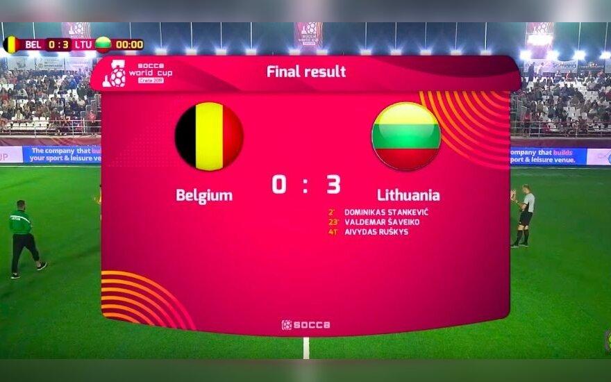 Sensacija pasaulio mažojo futbolo čempionate: Lietuva patiesė Belgiją