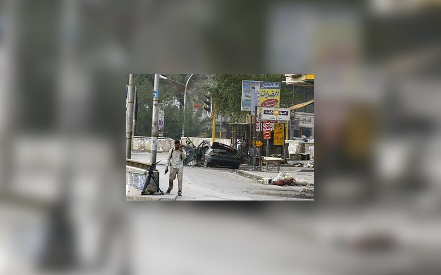 Bagdado centre sprogo automobilyje paslėpta bomba