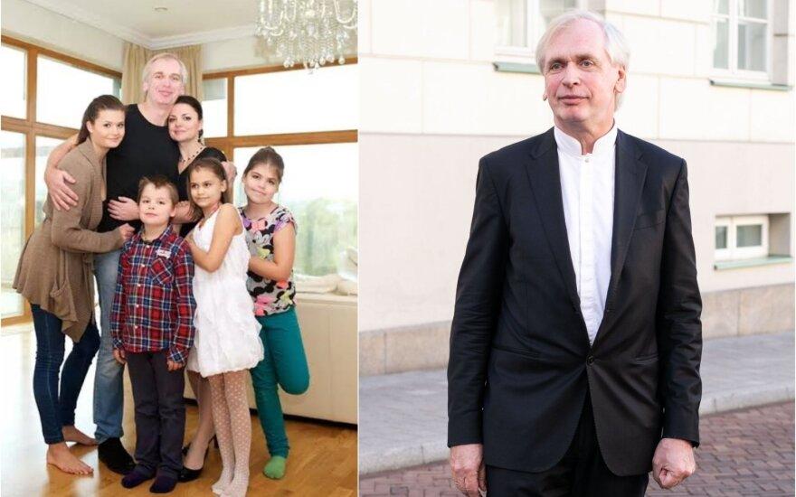 Gintaras Rinkevičius su šeima