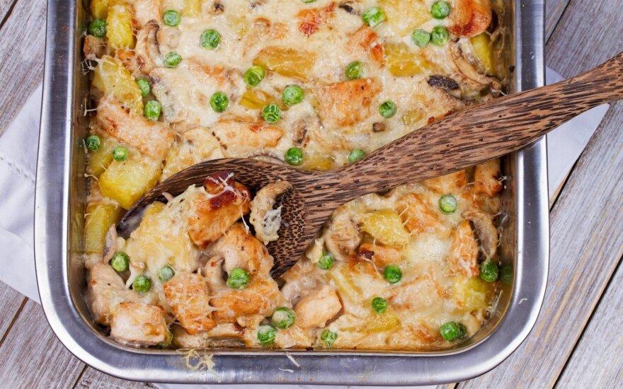 Kreminis vištienos apkepas su bulvėmis