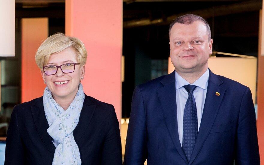 Ingrida Šimonytė ir Saulius Skvernelis