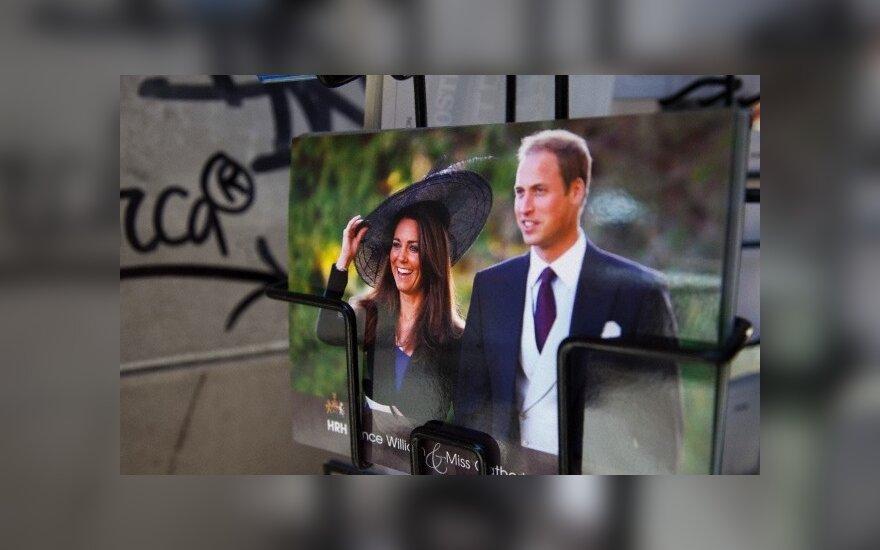 Princas Williamas ir Kate grįžo po medaus mėnesio