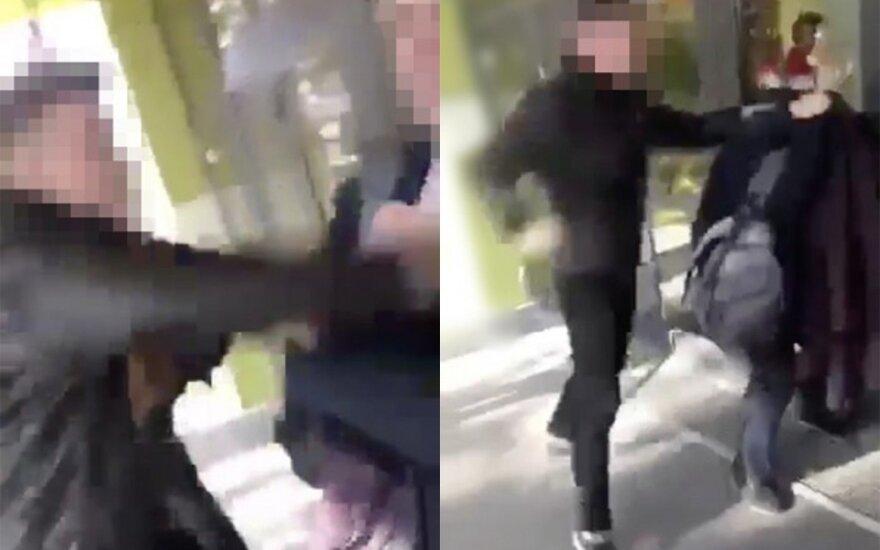 Neeilinis smurtas prestižinėje Kauno gimnazijoje: apsiginklavęs mokinys daužė paauglį