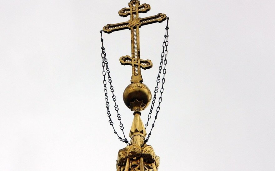 Cross on an Orthodox church