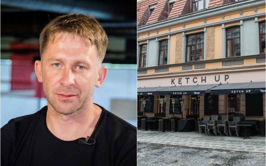 "E.Dragūnas, restoranas ""Ketch Up"" / Foto: Delfi, Fotodiena"