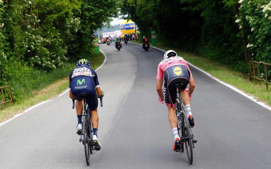 """""""Giro d'Italia"""" etape lietuviai finišavo vienas paskui kitą"""