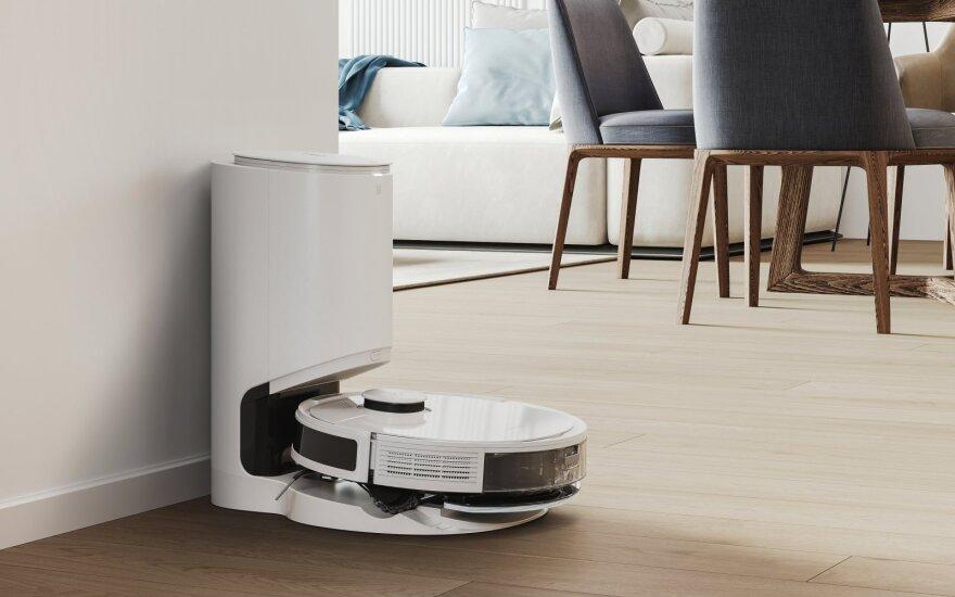 """DEEBOT N8+"""" ir """"DEEBOT N8 PRO+"""" robotus galima įsigyti su savaiminio išsivalymo stotele, kurioje telpa 2,5 litro suslėgtų dulkių ir nešvarumų"""