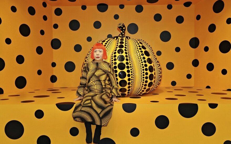 """Yayoi Kusama, """"Kusama with Pumpkin"""", 2010"""