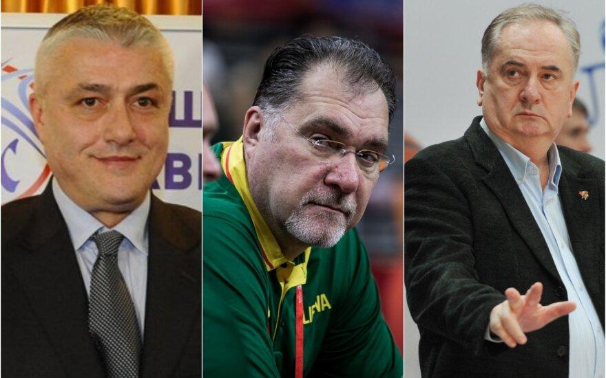 Predragas Danilovičius, Arvydas Sabonis, Božidaras Maljkovičius / Foto: DELFI, Vidapress, Twitter