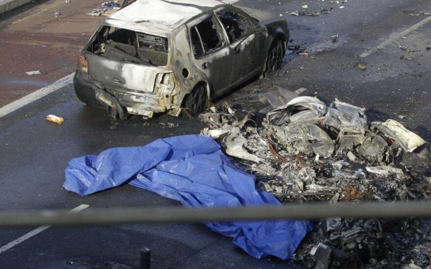 Londone sudužo sraigtasparnis