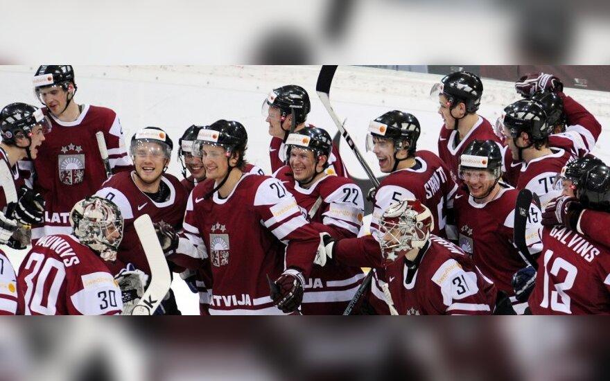 Latvijos ledo ritulininkai šventė pergalę